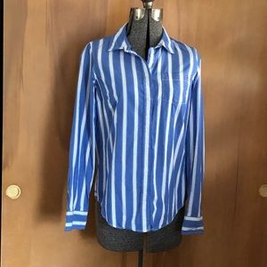 Tommy Hilfiger blue and white striped shirt small